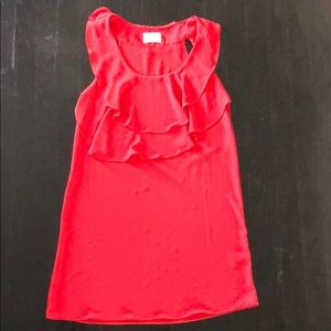 New Urban Outfitters red ruffle sleeveless dress